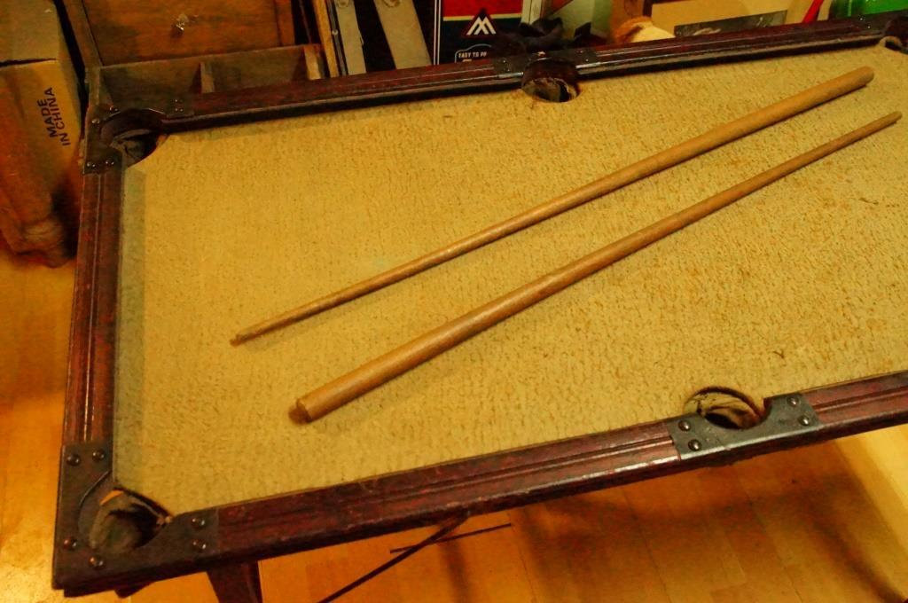 Nice Rare Antique Little Pool Table. Dimensions: ...